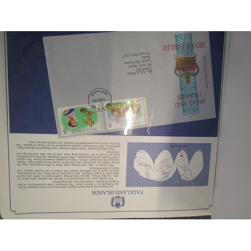 69 - Sixty seven Queen Elizabeth II Silver Jubilee First Day covers, Mr J E J Plant, 80 World 1st Day cov...