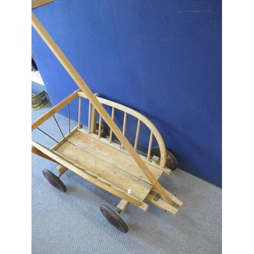 11 - A vintage cart with rubber wheels Location: RWF...