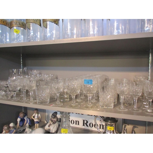 13 - A suite of Thomas Webb 'Wellington' table glass and other glassware Location: 6:2...