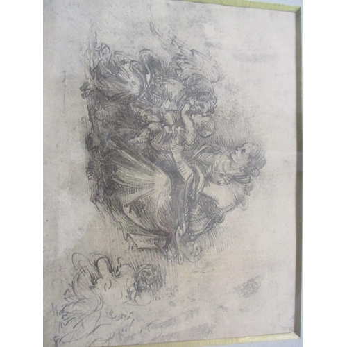 46 - Seven miscellaneous prints to include a Fillippino Lippi reproduction, together with a framed photog...