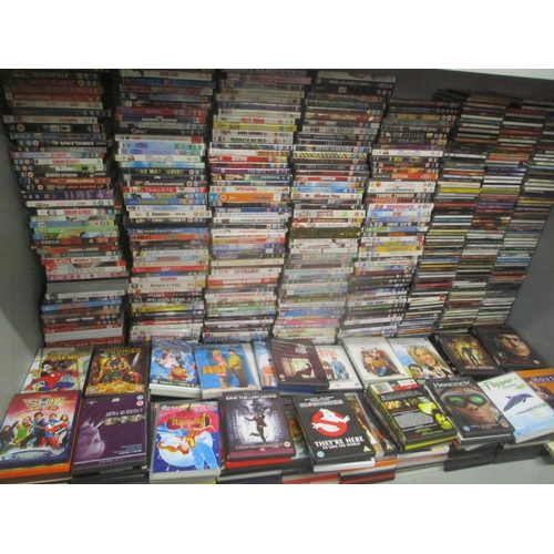 87 - Approximately two hundred and sixty CD's of popular music together with approximately 500 dvd's Loca...