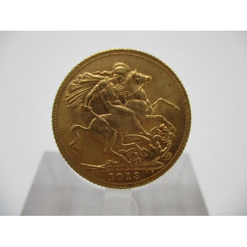 216 - A George V gold full sovereign with St George to the obverse 1913...
