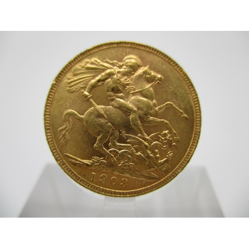 217 - A George V gold full sovereign with St George to the obverse 1903...