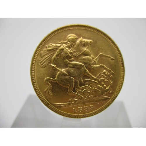 219 - A Victorian gold full sovereign with St George to the obverse 1899...