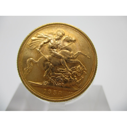 263 - An Elizabeth II gold full sovereign with St George to the obverse 1958...