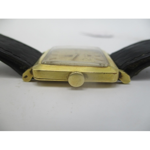 26 - An Omega 18ct gold gents manual wind triple signed wristwatch, c. 1958.  The 17 jewel calibre 511 mo...