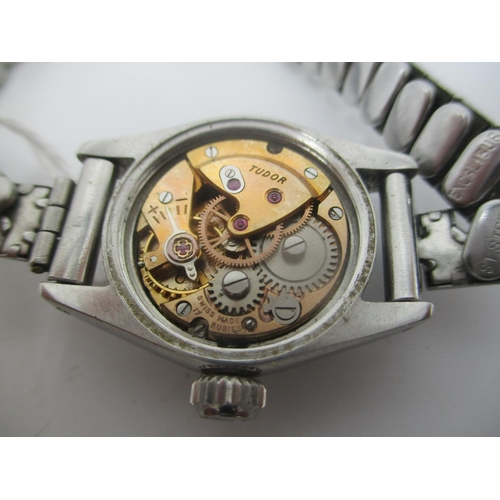 33 - A Tudor oyster Royal manual wind stainless steel ladies wristwatch, having original Rolex crown, fit...