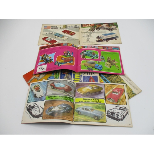 110 - Corgi and Dinky sales booklets 1960 and 1970's, quantity seven...