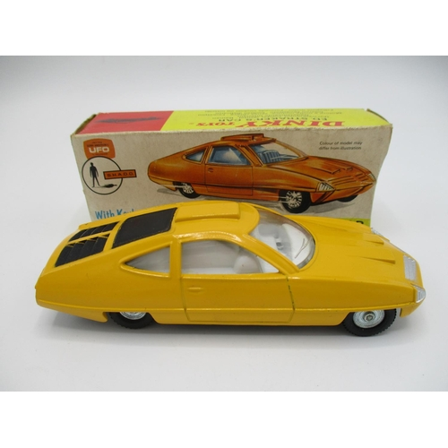 114 - Dinky yellow 352 UFO Ed Stakers car with instructions in original box