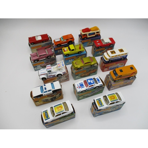 115 - Matchbox 75, a quantity '14' to include Rolamatics, Superfast Wheels (Ford RS 2000 qty 2) (57 T Bird...