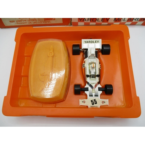 116 - A Corgi toys Yardley McLaren M19A Formula One racing car Grand Prix soap and car set complete in ori...