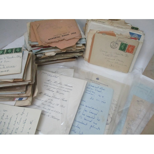 249 - Approximately four hundred letters, diaries, headed paper, telegrams and other correspondence relati...