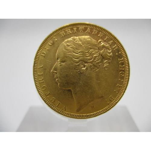 261 - A Victorian gold full sovereign with St George to the obverse 1883...