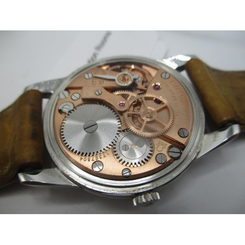 42 - An Omega manual wind, stainless steel gents wristwatch circa 1960, the calibre 285 movement numbered...