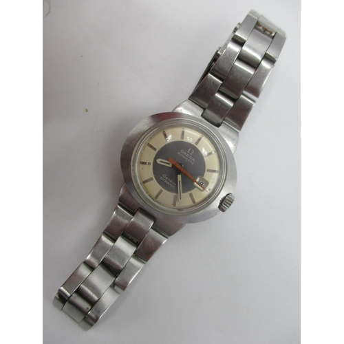58 - An Omega Dynamic automatic ladies, stainless steel wristwatch circa 1970, the dial having baton mark...