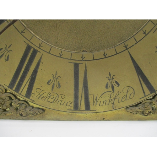 66 - A late 17th/early 18th century lantern type clock movement having a gilt dial inscribed Henry Druce,...