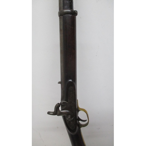 266 - An Enfield percussion service rifle, the 33