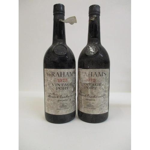 12 - 2 Bottles of Grahams 1975 Vintage Port Location: CAB1...