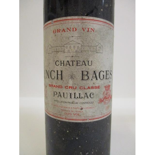 13 - 1 Bottle of Chateau Lynch Bages Grand Cru Classe Pauillac 1996 ullage just up from base of neck Loca...