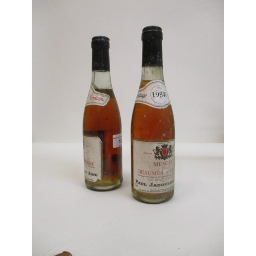 18 - 2 Bottles of Muscat Beaumes De Venise, Paul Jaboulet 1984 Location: 1...
