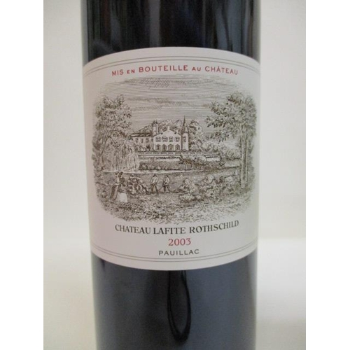 2 - 1 Bottle of Chateau Lafite Rothschild 2003 Pauillac...