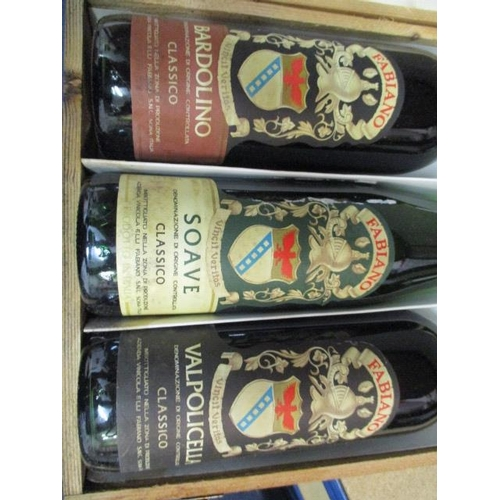 9 - 3 Bottles of Fabiano to include Bardolino, Soave, Valpolicella Location: 1...