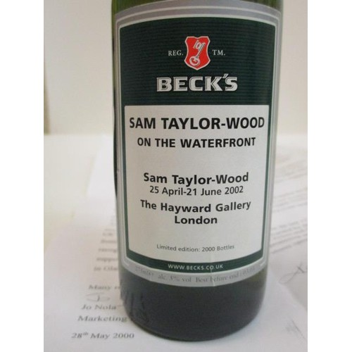 20 - One bottle of Becks limited edition Sam Taylor-Wood @ Hayward Gallery London, a run of 2000...