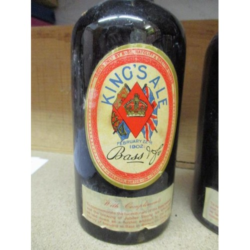 22 - Two bottles of Bass Kings Ale Feb 22 1902 - July 1977...