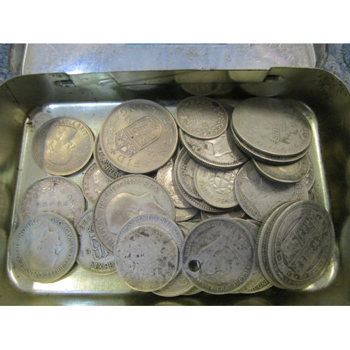 102 - A selection of British, Indian Raj and other world silver coinage to include a William IV 1835 East ...