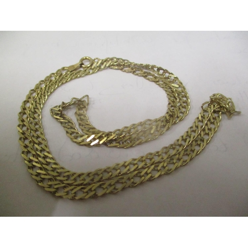 1 - A 9ct gold chain link necklace, 8.5 grams Location: CAB...