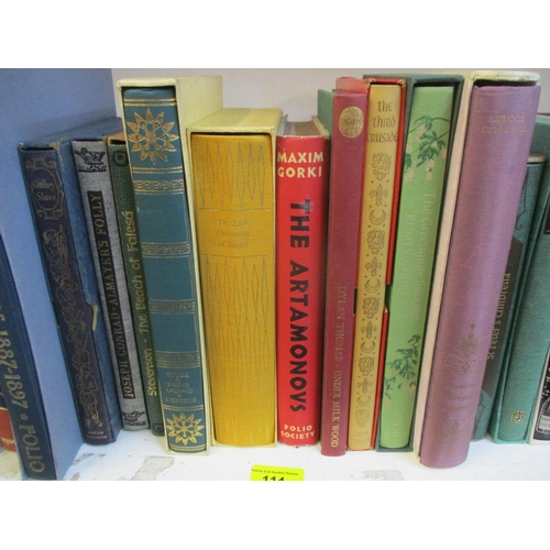 114 - A quantity of Folio Society books and others Location: RWM...