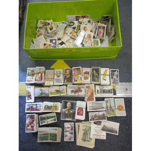 115 - A quantity of cigarette cards to include Taddy & Co footballers, Carreras Kodak at the Zoo and other...