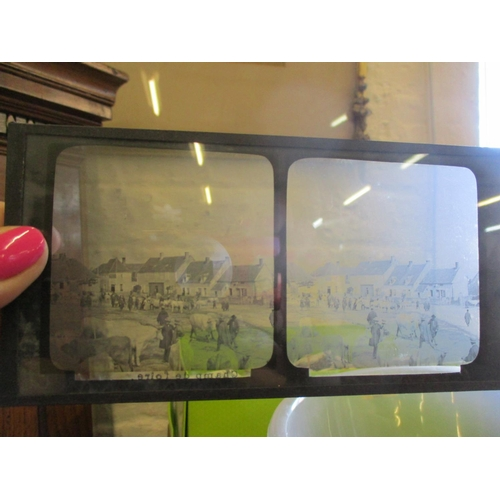 117 - Approximately fifty early 20th century stereoscopic lantern slides with topographical views of an au...
