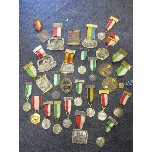 119 - Approximately twenty seven medals mainly German origin includes seven silver examples by Fritz Reu &...