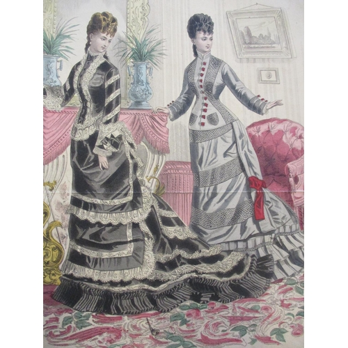 123 - Approximately twenty five Victorian coloured fashion prints Location: RWM...