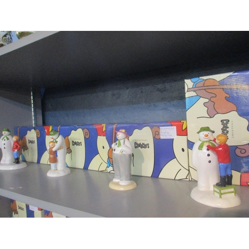 132 - Four Coalport character figures of The Snowman, together with boxes Location: 5:2...