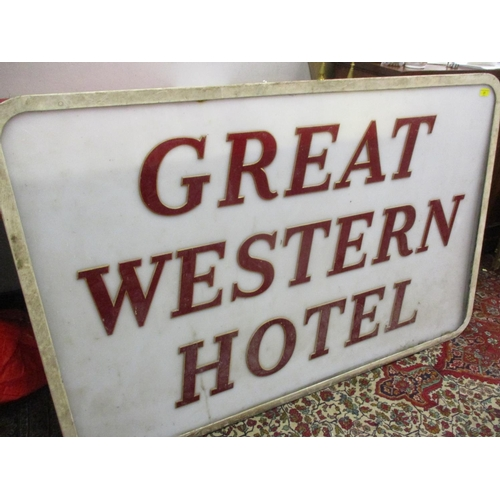 31 - A large Great Western Hotel sign (similar to lot 29) manufactured by Pearce, 56