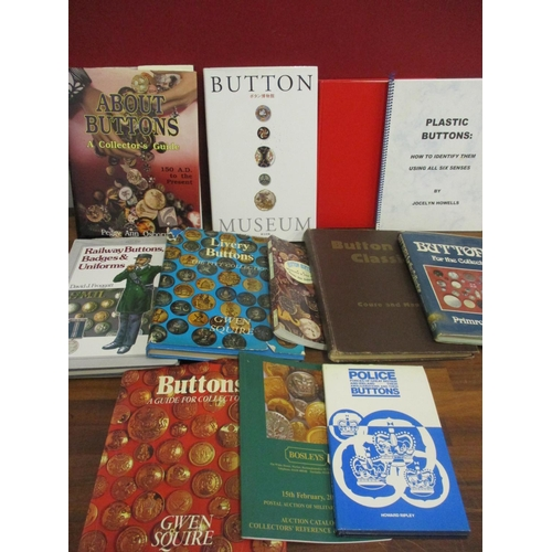 35 - A quantity of books on buttons to include The Button Museum book in Japanese and Button Classics by ...