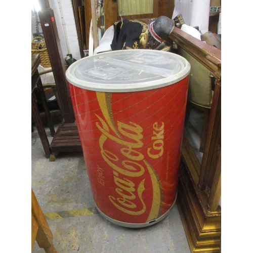 42 - A retro Coca Cola fridge fashioned as a can, without cable ( did not meet the pat testing requiremen...