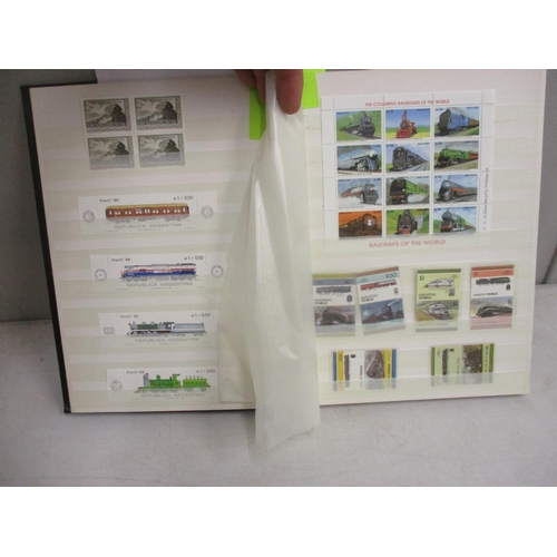 45 - A stamp album containing thematic train related examples Location: LAM...