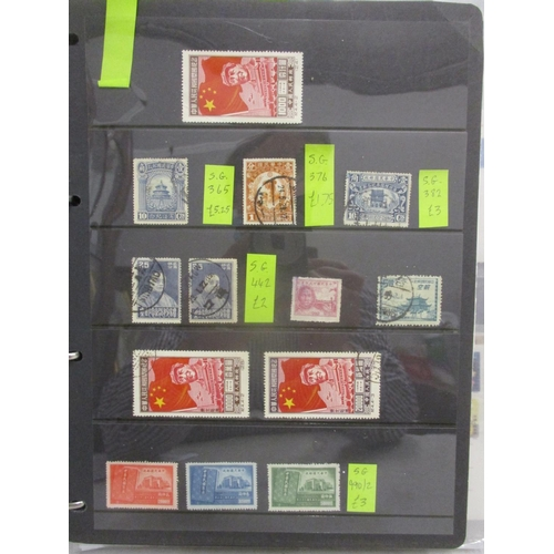 46 - Postage stamps and postcards of China, used and unused mounted on pages and stock cards Location: LA...