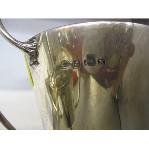 59 - Two silver twin handled trophy cups, 248g, on stands Location: 6:1...