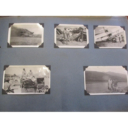 127 - Two photograph albums from 1930's with photographs of a posting to Risalpur and lower Topa air force...