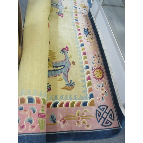 345 - A large multicoloured Chinese carpet Location: BR...
