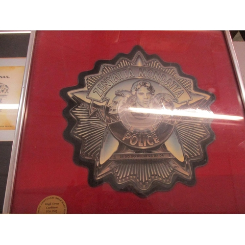 349 - A 1994 presentation disc for the album Crocodile Shoes presented to Jimmy Nail, mounted and framed a...