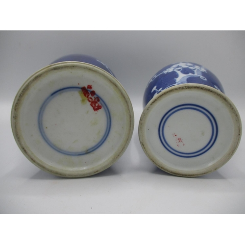 10 - Early 20th century Chinese blue and white ceramics decorated with prunus blossom comprising a ginger...