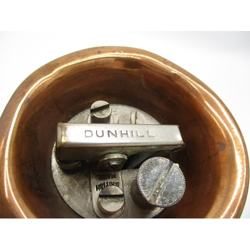 138 - A Dunhill copper and nickel plated novelty table lighter in the form of a hunting horn, 9