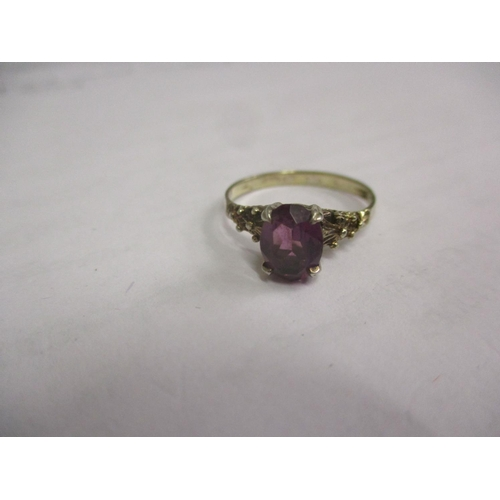 1 - An 18ct gold and amethyst ring, total weight 1.55g Location: CAB...