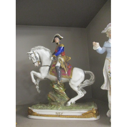 16 - Figures of Nelson and others to include a pair on horseback, some A/F Location: RWB...