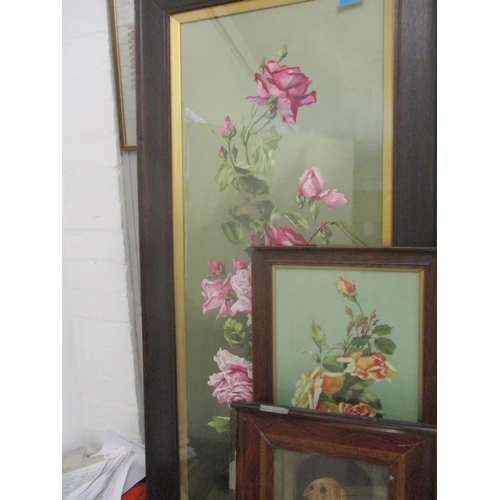 29 - Pictures to include two Victorian still life of roses, still life watercolours and others Location: ...